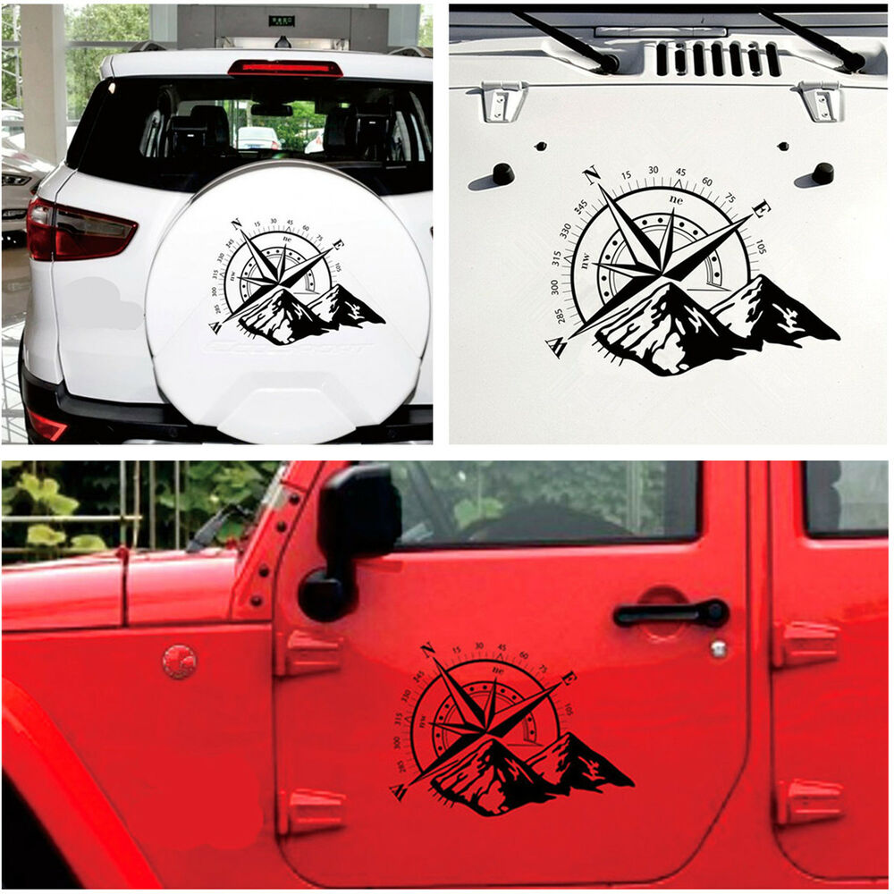 Details about hood sticker compass totem car decal vinyl bonnet sticker for jeep off road suv