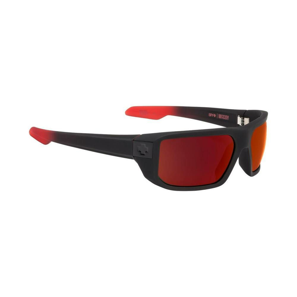 c40f595329 Details about Spy Mccoy Sunglasses Men s Soft Matte Black Red Fade Happy  Gray Green Red Flash