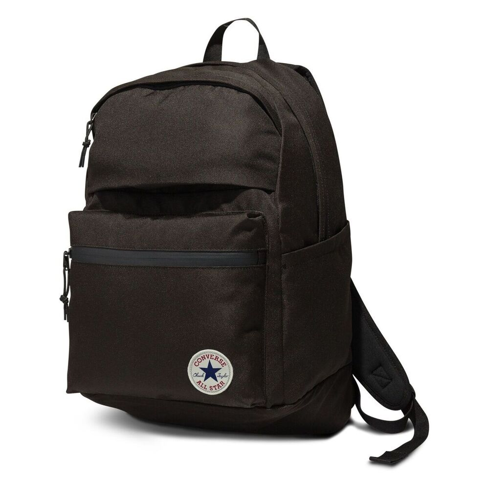 c34504f8b0b543 Details about Black Converse All Star Original Big Backpack Rucksack School- bag