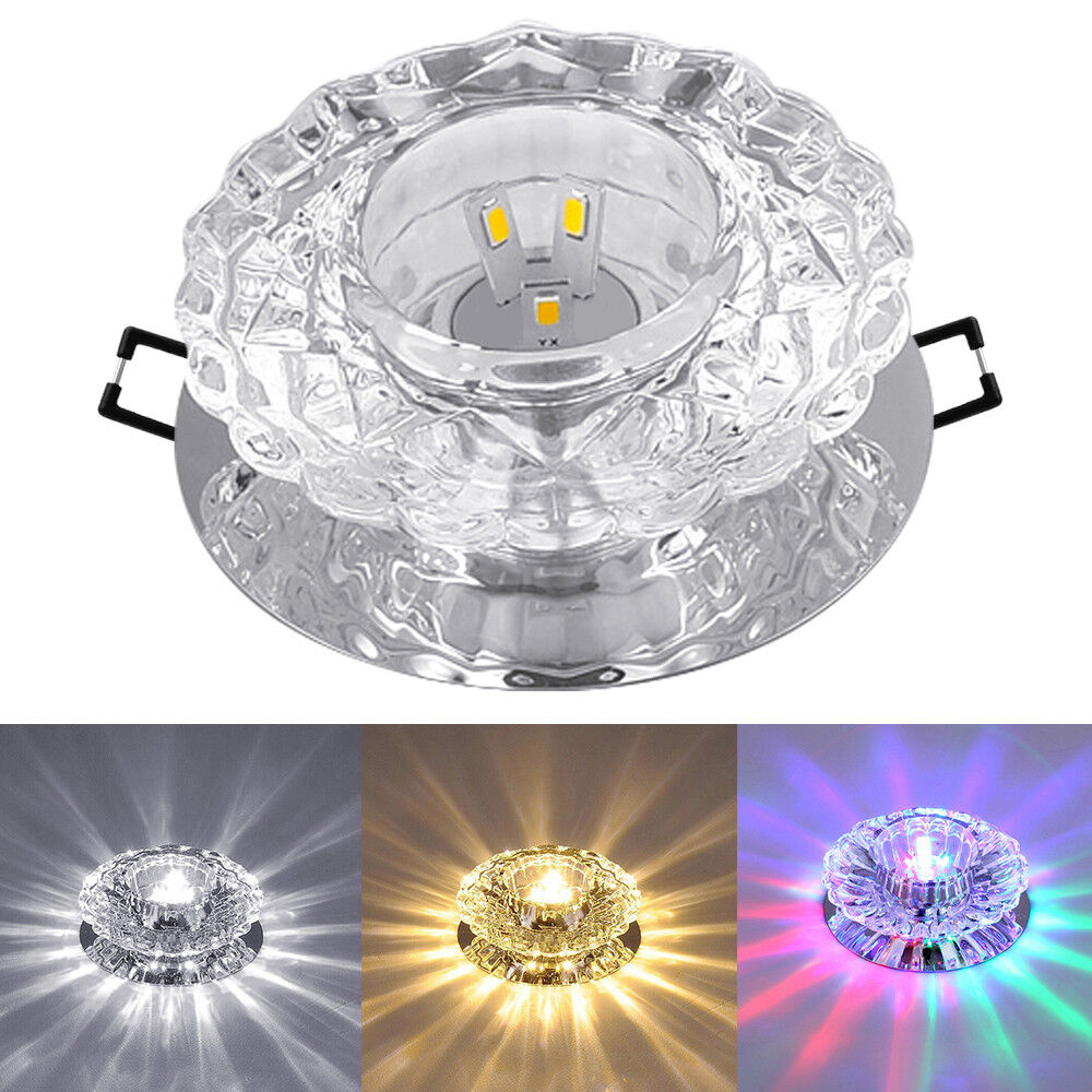 Details about crystal 3w 5w led ceiling light pendant lamp livingroom porch hallway fixtures