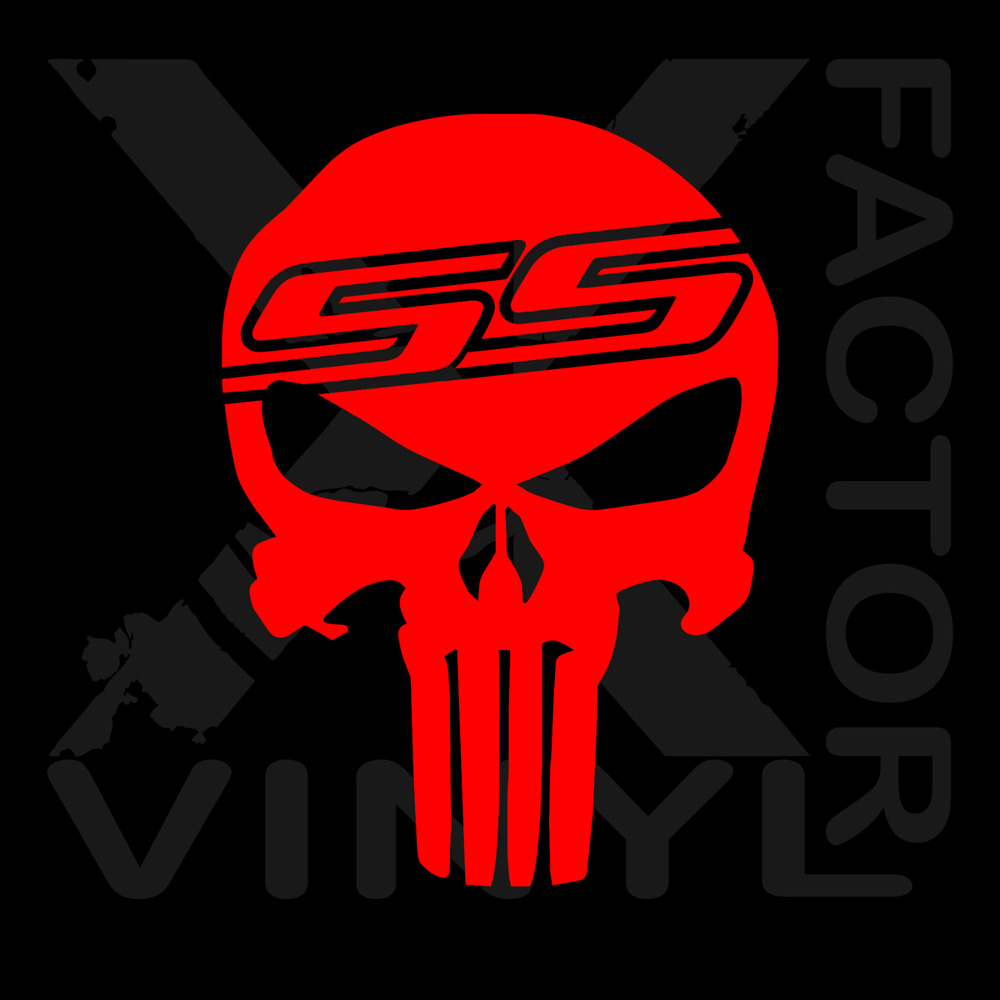 Details about chevrolet chevy ss punisher dicut vinyl decal 3 sizes 14 colors silverado camaro