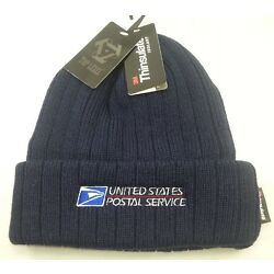 Kyпить USPS Embroidered POSTAL BEANIE  Navy Blue Cuffed BEANIE   3M Thinsulate Beanie на еВаy.соm