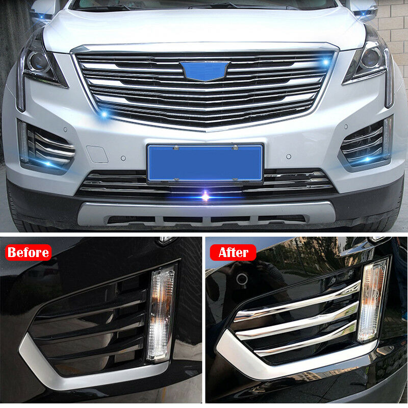 New 2016 Cadillac: New 6pcs Chrome Front Fog Light Stripe Trim For Cadillac XT5 2016 2017 2018 602463460140
