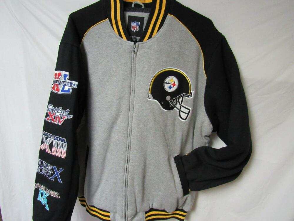 190084e7 Details about Pittsburgh Steelers Mens 3XL 5 Time Super Bowl Champions  Cloth Jacket B1 25