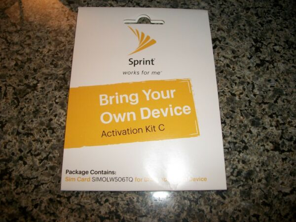 SPRINT BRING YOUR OWN DEVICE ACTIVATION SIM CARD KIT C SIMOLW506TQ NEW