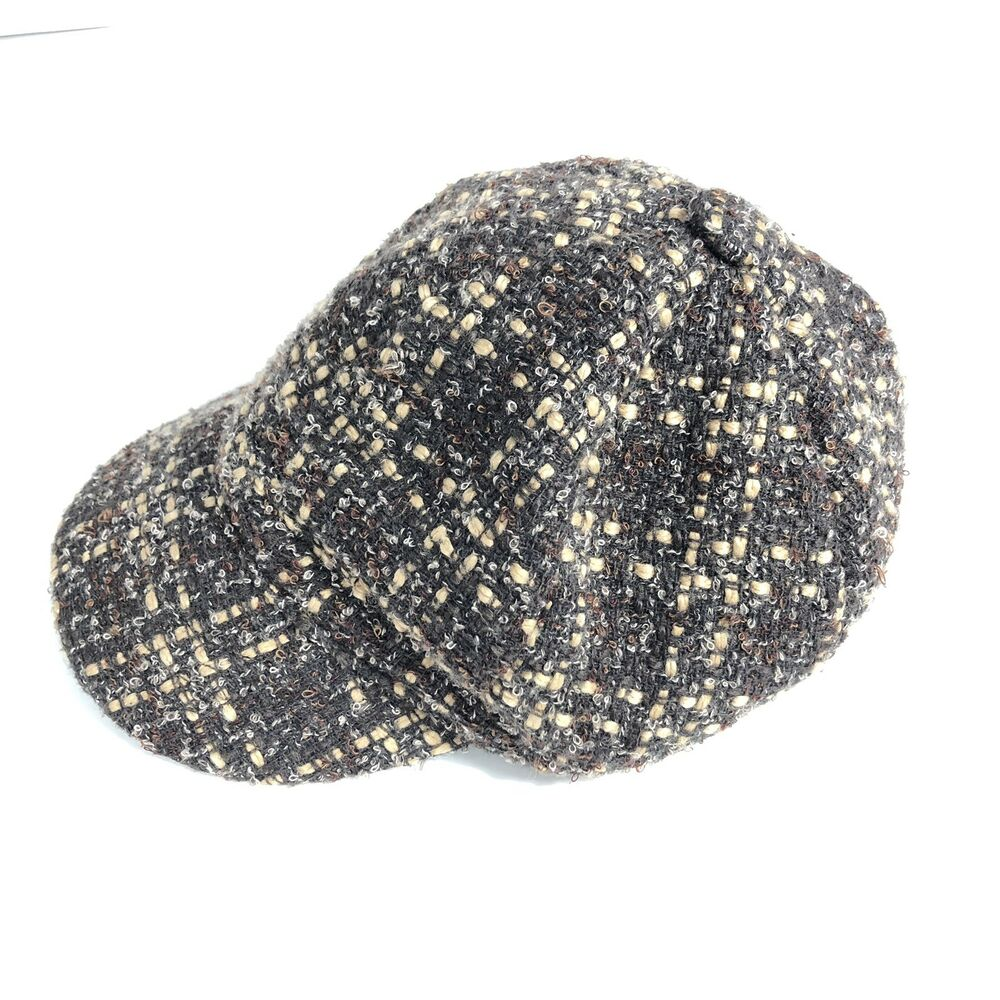 4d8f20a2eb9 Details about Broner Mens Brown Tweed Wool Blend Hat One Size Fits Most  Casual Outdoor Cap