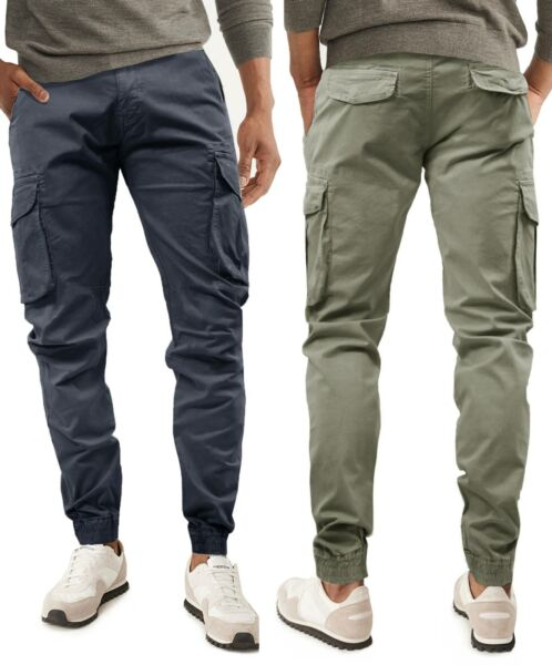Pantaloni Uomo GIROGAMA Casual Multitasche Cargo Tasconi Laterali Slim  8223IT 718a5ea9efa