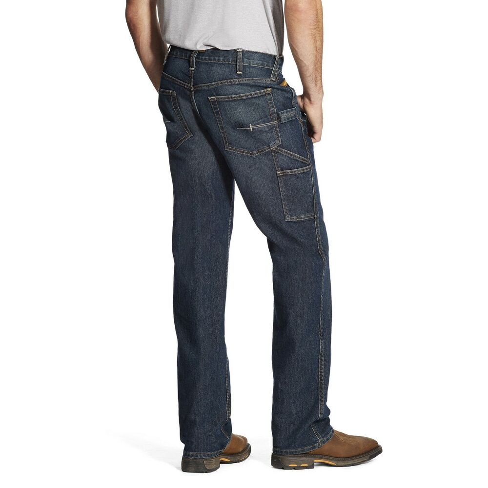 90164a7c Details about Ariat® Men's Rebar M4 Durastretch Workhorse Boot Cut Jeans  10018377