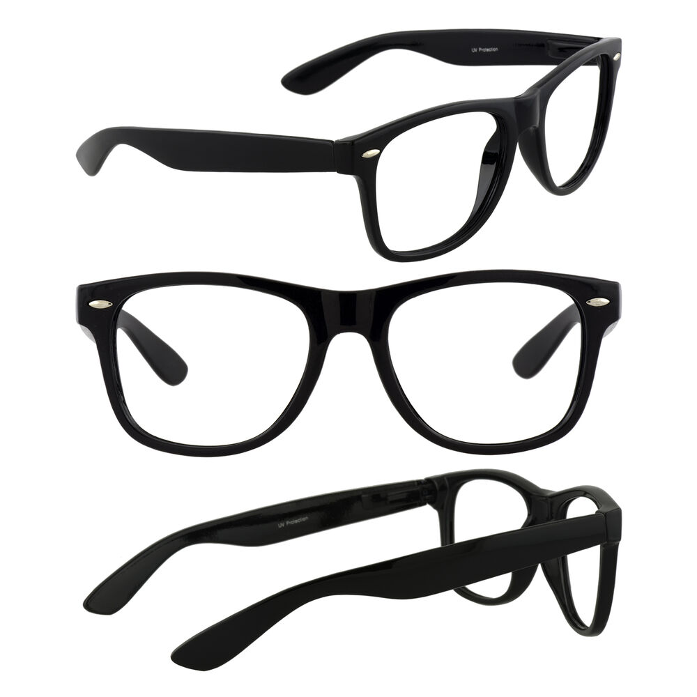 eb6d38579f Details about Men s Retro Glasses Nerd Geek Hipster Fake Eye Glasses w  Clear  Lens