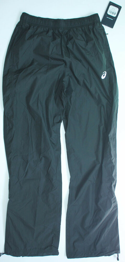 708c10d9e4a2 Details about ASICS Men s Black Medium Exercise Running Jogging Pants w   Pockets Storm Shelter
