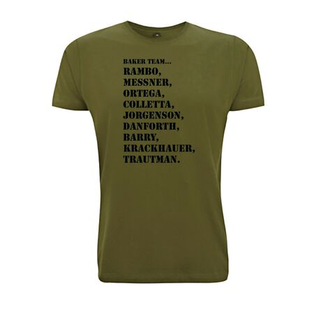 img-Rambo T Shirt Baker Team First Blood Movie Inspired tshirt Retro Film 1980s