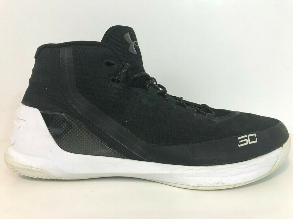 "63549e3ec43 Details about Under Armour UA Curry 3 ""Cyber Monday"" Basketball Shoe Size  16 Black White"