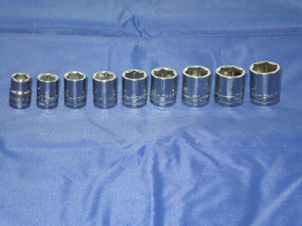 CRAFTSMAN 9 piece 6 point 3/8