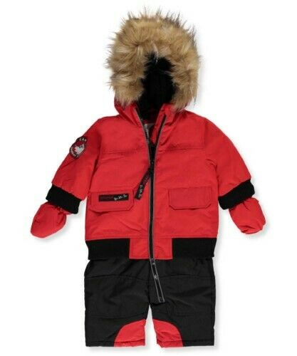 Canada Weather Gear Baby Boys' 1-Piece Snowsuit  RED  3/6 Months $110