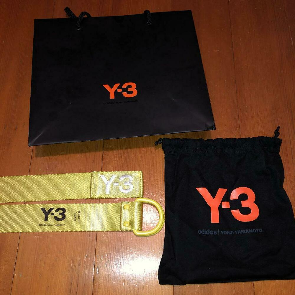 the best attitude 09d43 8340d Details about Y3 LOGO BELT MEN ACCESSORY YOHJI YAMAMOTO NEW 2018SS YELLOW  LARGE L JAPAN BRAND