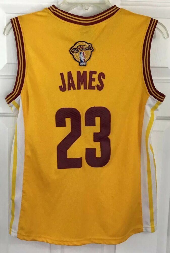 Details about Adidas NBA 4 Her Cavs  23 LeBron James Stitched Jersey The  Finals Women s Sz M 9d3490fa3