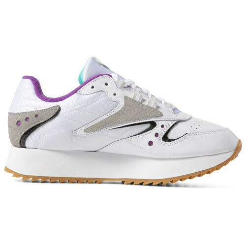 1dcd002a50f24b Details about Reebok DV5376 Classic leather ATI 90S Running shoes white  green purple sneakers