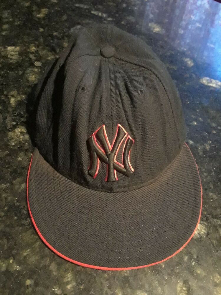 Details about New York Yankees Vintage 90s 59Fifty 5950 7 3 8 MLB New Era  100% Wool Cap Hat ba2e04f86848