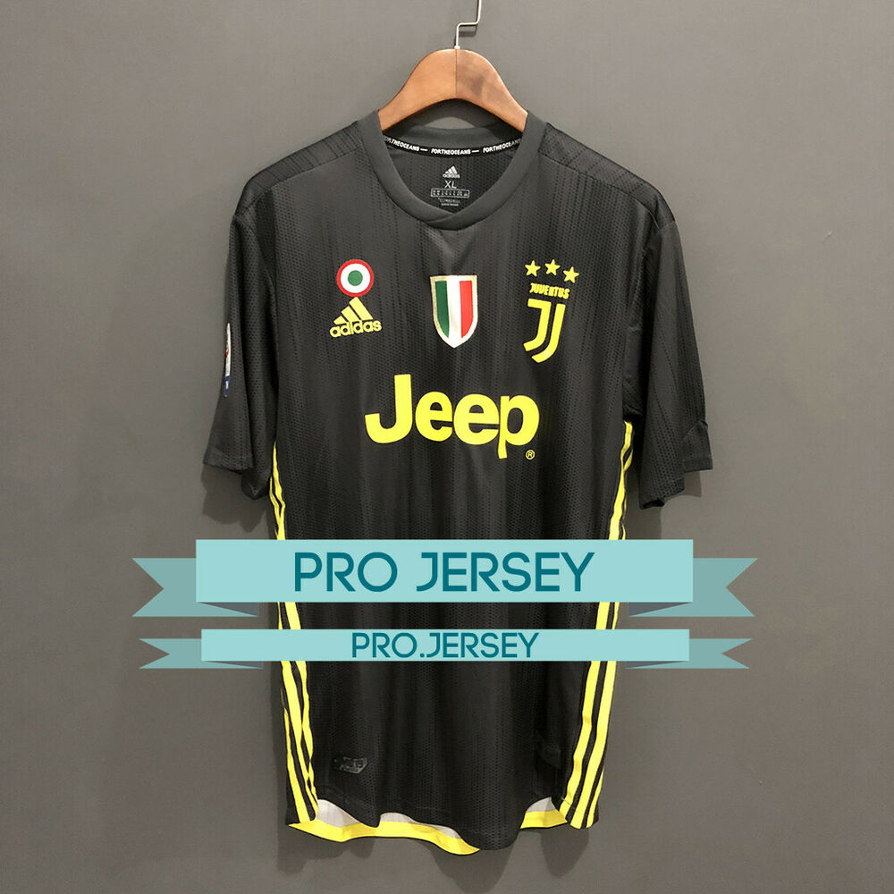 fc22ced5588 Details about NEW Juventus Player Version Third 3rd Jersey 2018 2019  RONALDO DYBALA ANY NAME
