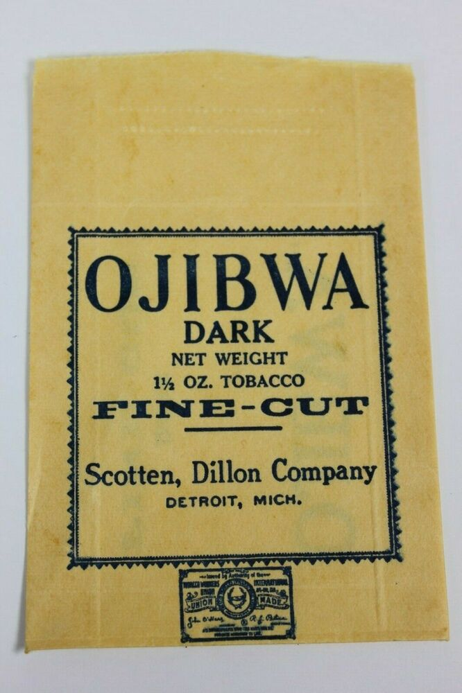 be0abb8af03f Details about Ojibwa Fine Cut Tobacco Store Dispensing BAG ONLY !! Please  Note REVISIONS