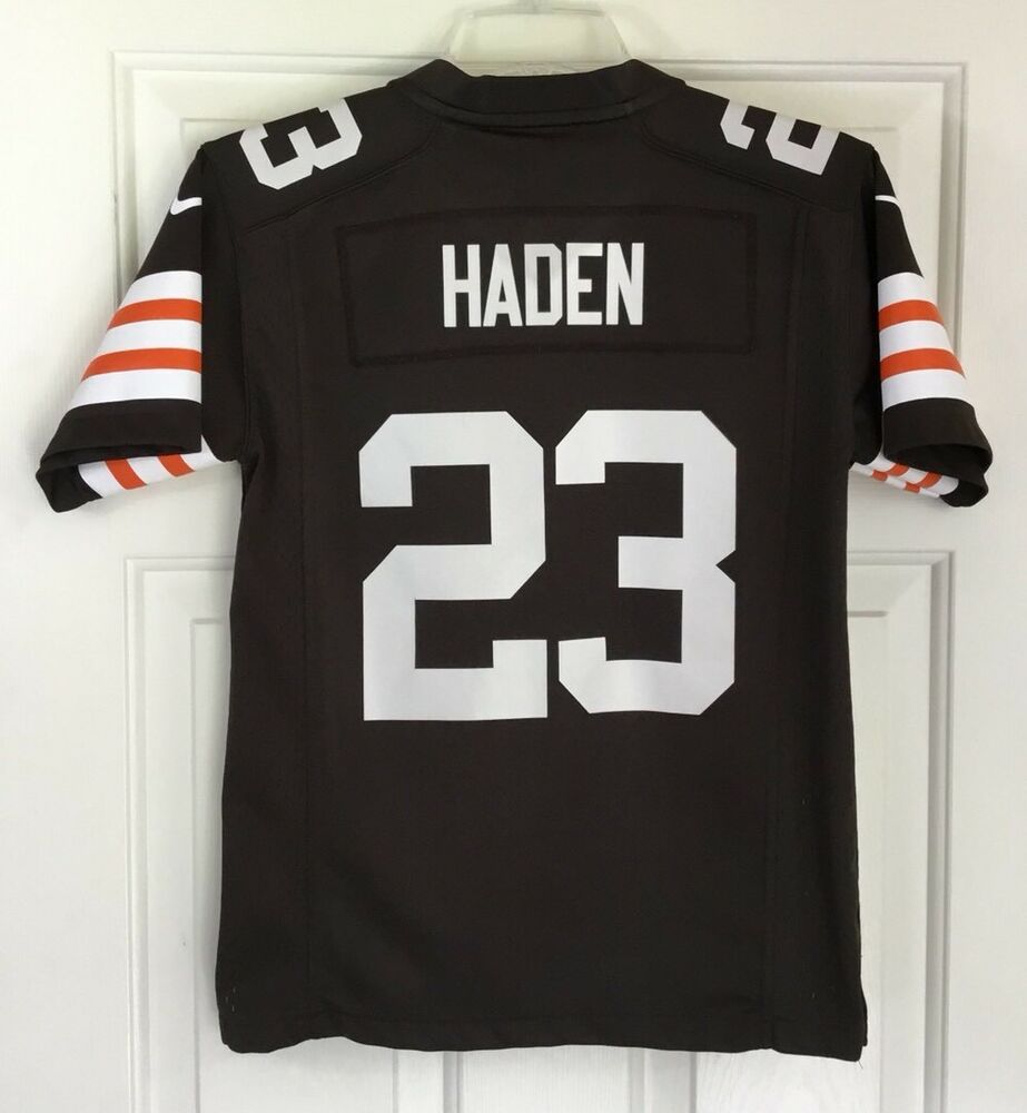 fb34df4515f5 Details about Nike On Field NFL Cleveland Browns Joe Haden  23 Jersey Brown  Sz Youth M (10-12)