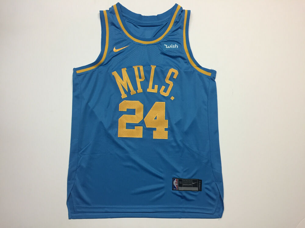 6f4573f99d0d Details about Kobe Bryant  24 Los Angeles Lakers MPLS Light Blue Men s  Jersey Brand New