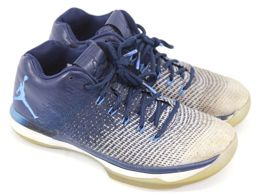 b8ef7f1a07a408 Details about Nike Men s Air Jordan XXXI 31 Low Blue Athletic Basketball  Shoes Size 8