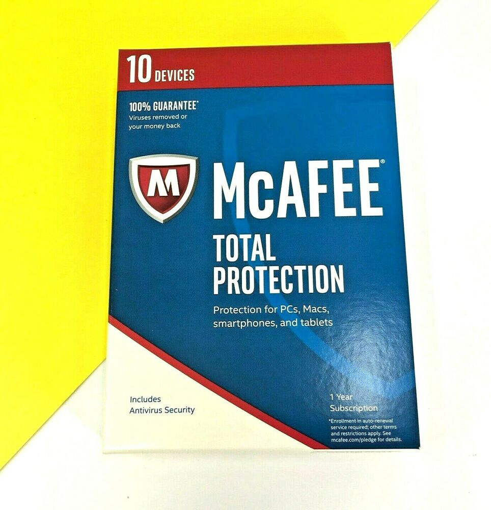 New McAfee Total Protection 10 Device MTP17ELP0RAA - 1 Year Subscription  #6294 731944696294 | eBay