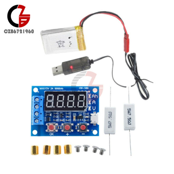 18650 Li-ion Lithium Battery ZB2L3 Capacity Tester & Lithium Battery USB Cable