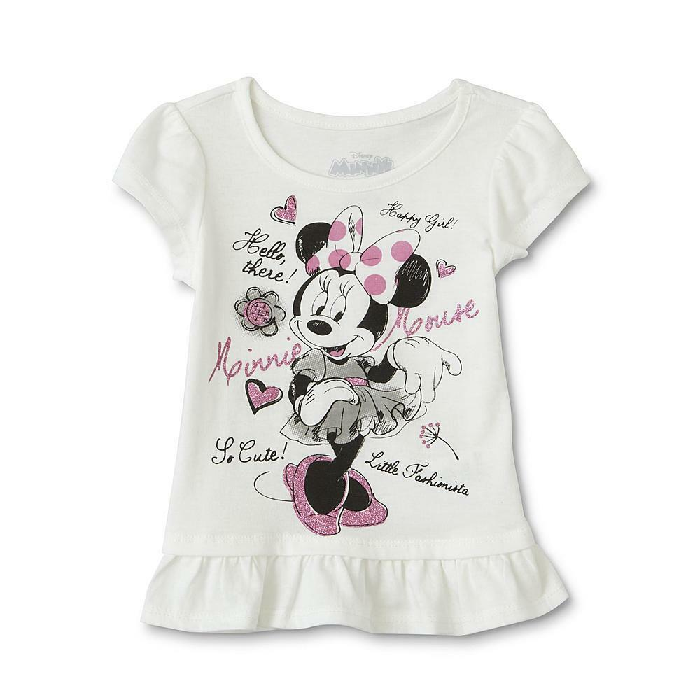 e132a680620dd Details about Minnie Mouse short sleeve Ruffle T-Shirt toddler girl size 4T