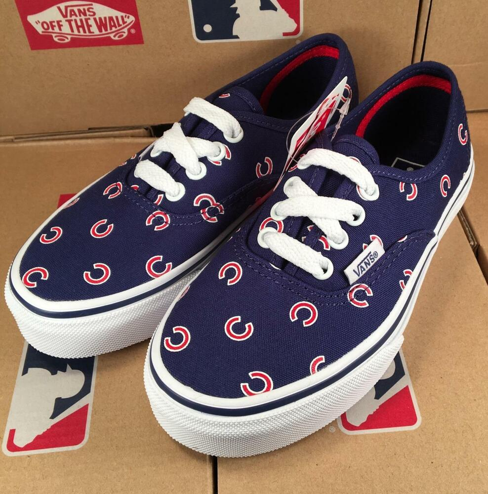 fb67c00cf2339d Details about Vans KIDS Chicago Cubs MLB Authentic Sneaker Limited Edition  Shoes Kids Youth
