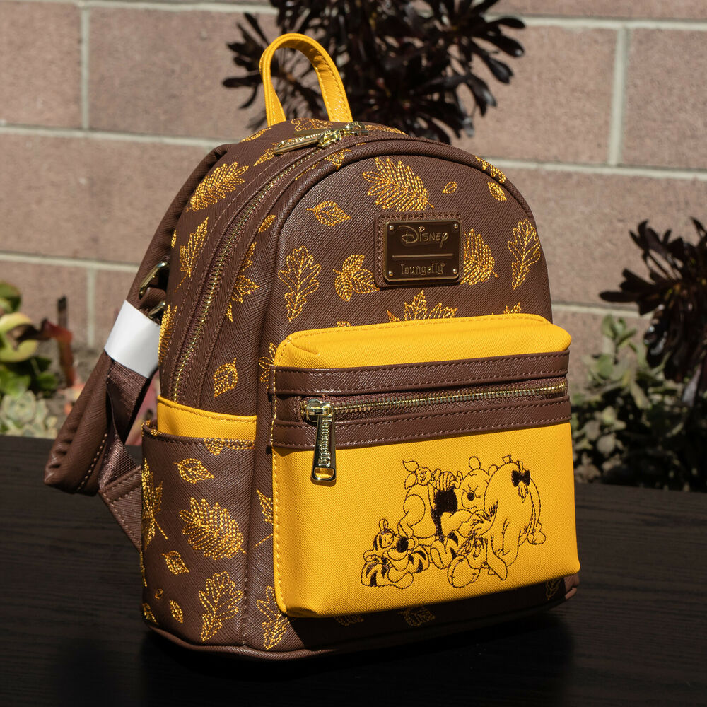 803018dd38b Details about Loungefly Disney Winnie the Pooh Autumn Mini Backpack New  with Tags