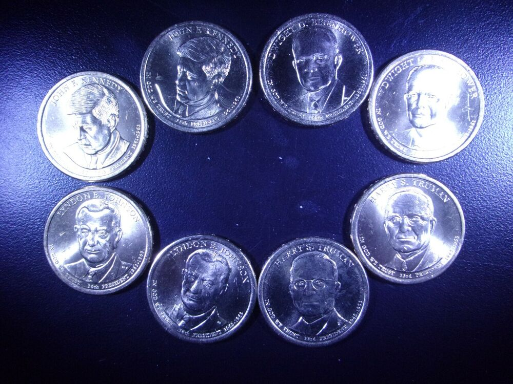 COMPLETE SET OF 4 * MINT COLORIZED PRESIDENTIAL $1 DOLLAR COINS 2015 U.S
