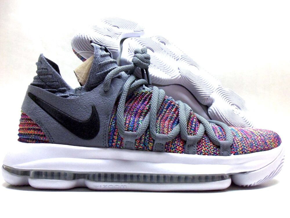 c08ca1768354 Details about NIKE ZOOM KD10 KEVIN DURANT MULTI-COLOR BLACK-COOL GREY SZ  MEN S 10  897815-900