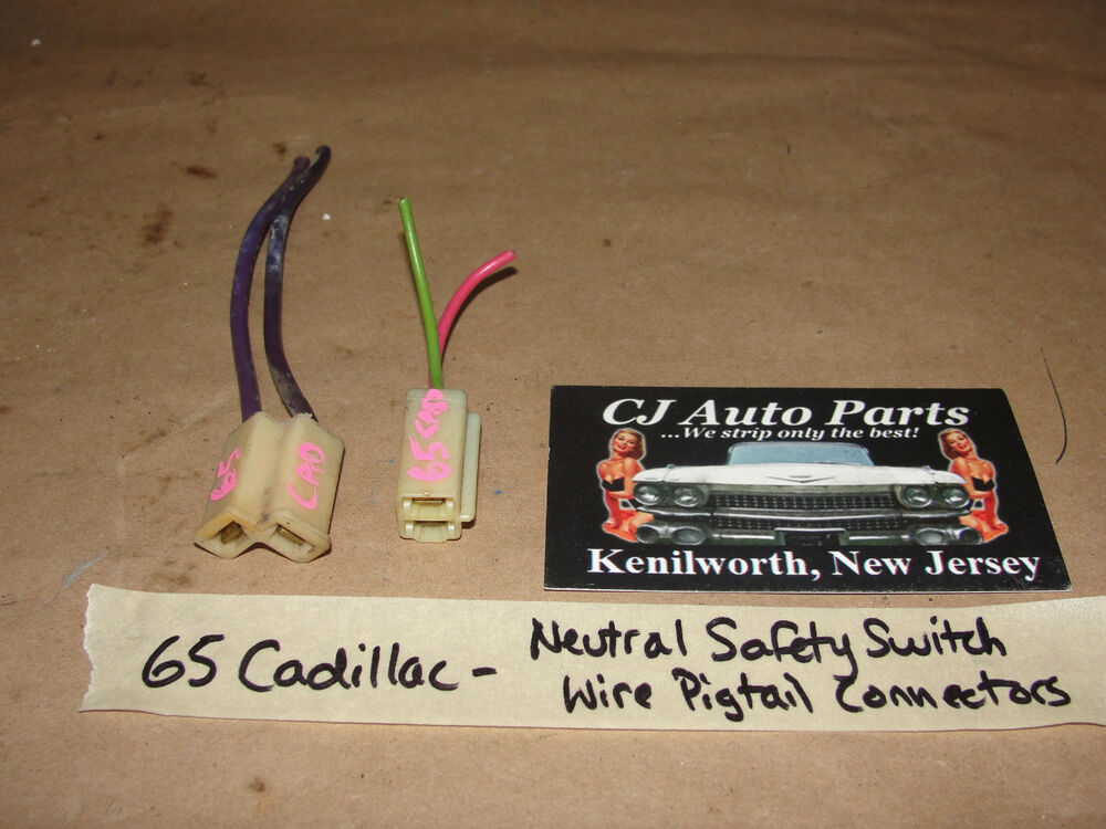 Peachy 65 1965 Cadillac Neutral Safety Backup Switch Wire Harness Pigtail Wiring Cloud Brecesaoduqqnet