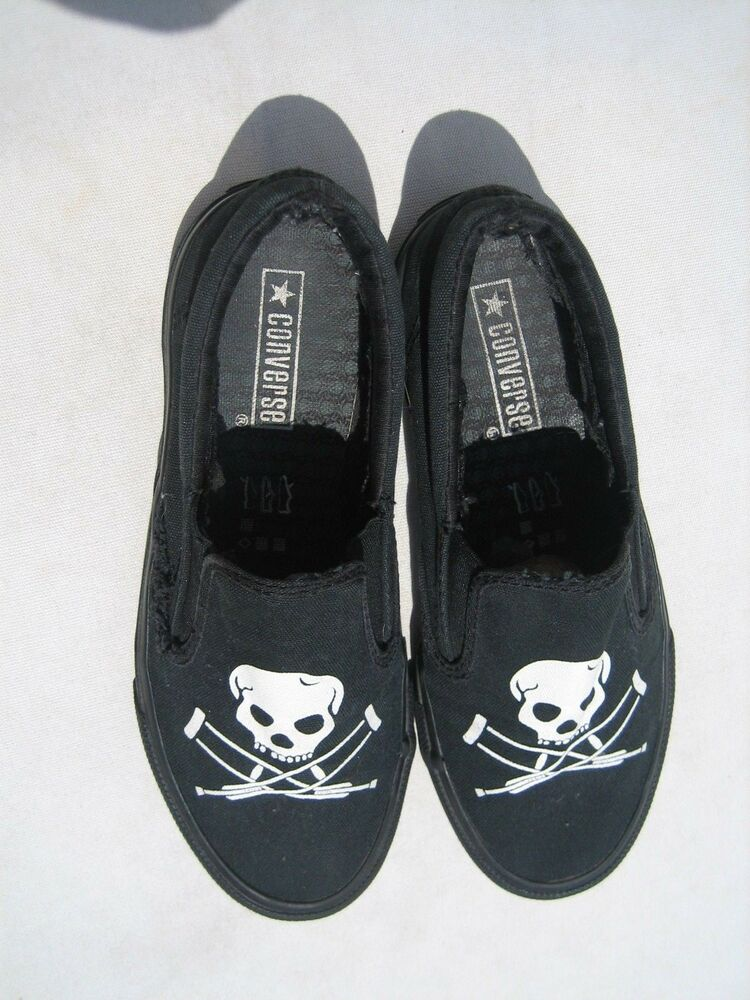 5a3c46f9944f RARE MTV JACKASS CONVERSE MENS SIZE 6 WOMANS 8 SKULL CRUTCHES JOHNNY  KNOXVILLE