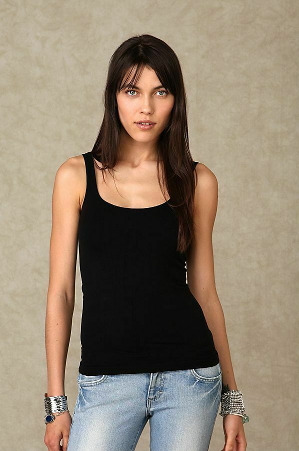 22c1436c79 Details about New Free People Intimately Essential Seamless Tank Top Womens Cami  Black  23