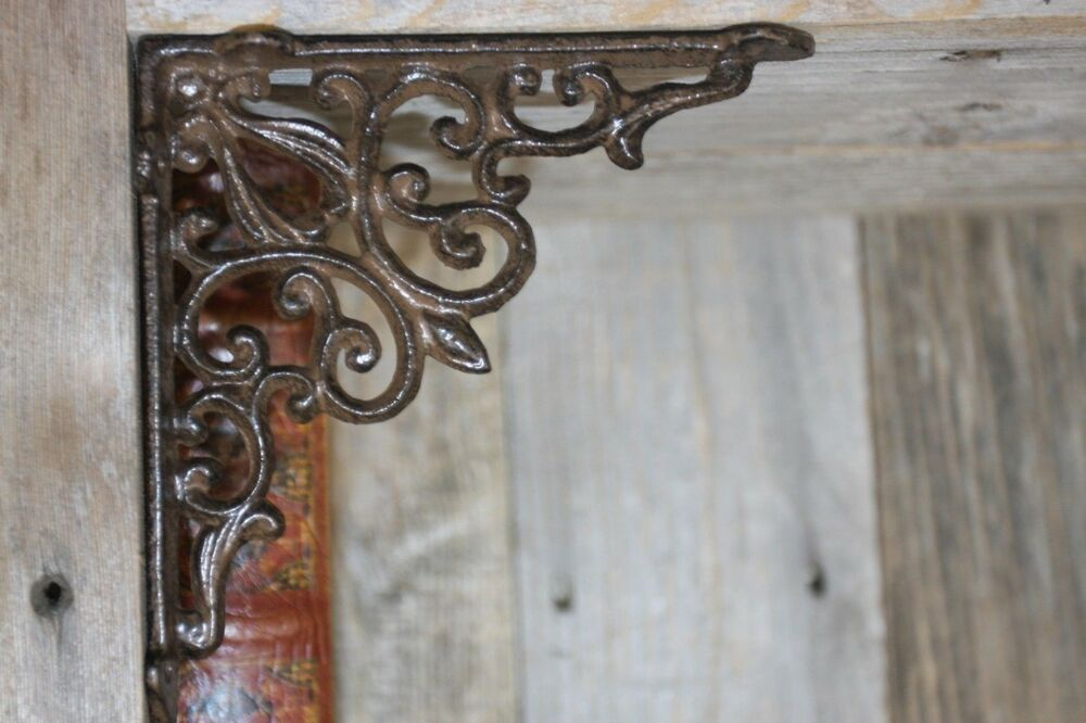 "Farmhouse Cast Iron Shelf Brackets 5 3/4"", Will Fit 6 Inch"