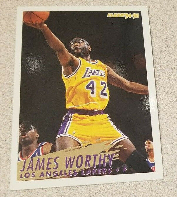 85ae9b903bb Details about 94-95 Fleer - James Worthy  114 Los Angeles Lakers