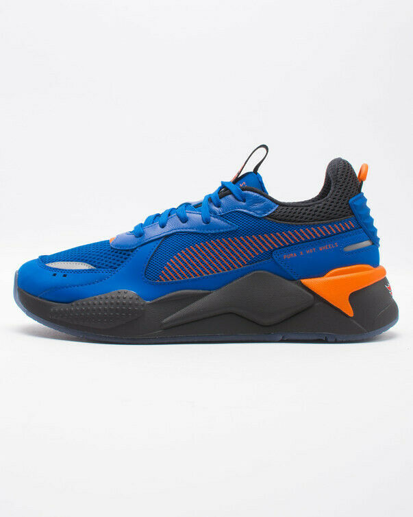 45cddc621ff Details about Puma x Hot Wheels RS-X Sneakers Lifestyle Limited Blue Orange  370405-01