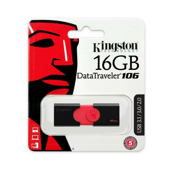 PENDRIVE KINGSTON ORIGINALE USB 3.1 CHIAVETTA FLASH DRIVE 16 GB MEMORIA DT106