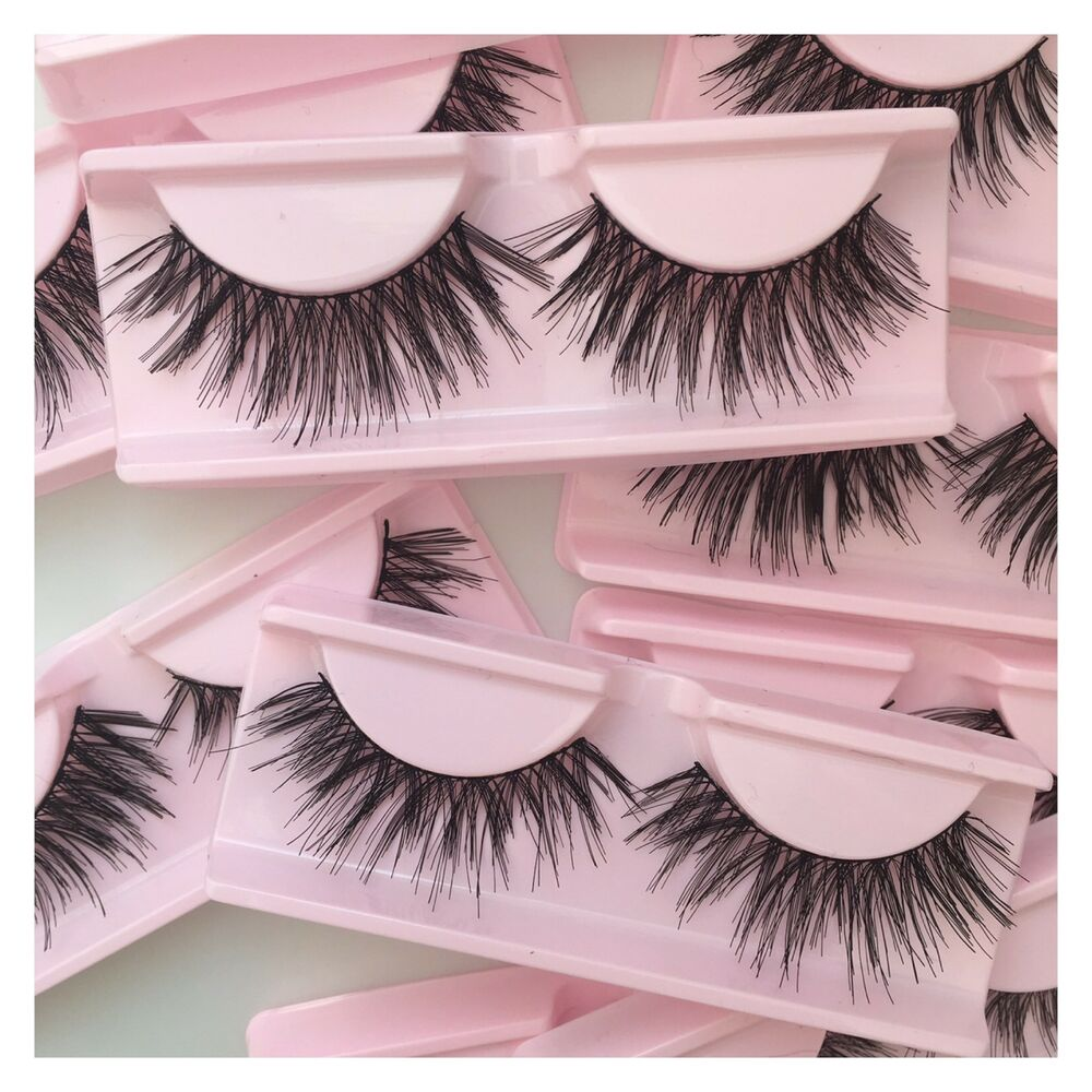 8aab7d92412 Details about False Eyelash Bundle / Synthetic / Reusable / Very Long Wispy  Lashes / 5 Pairs