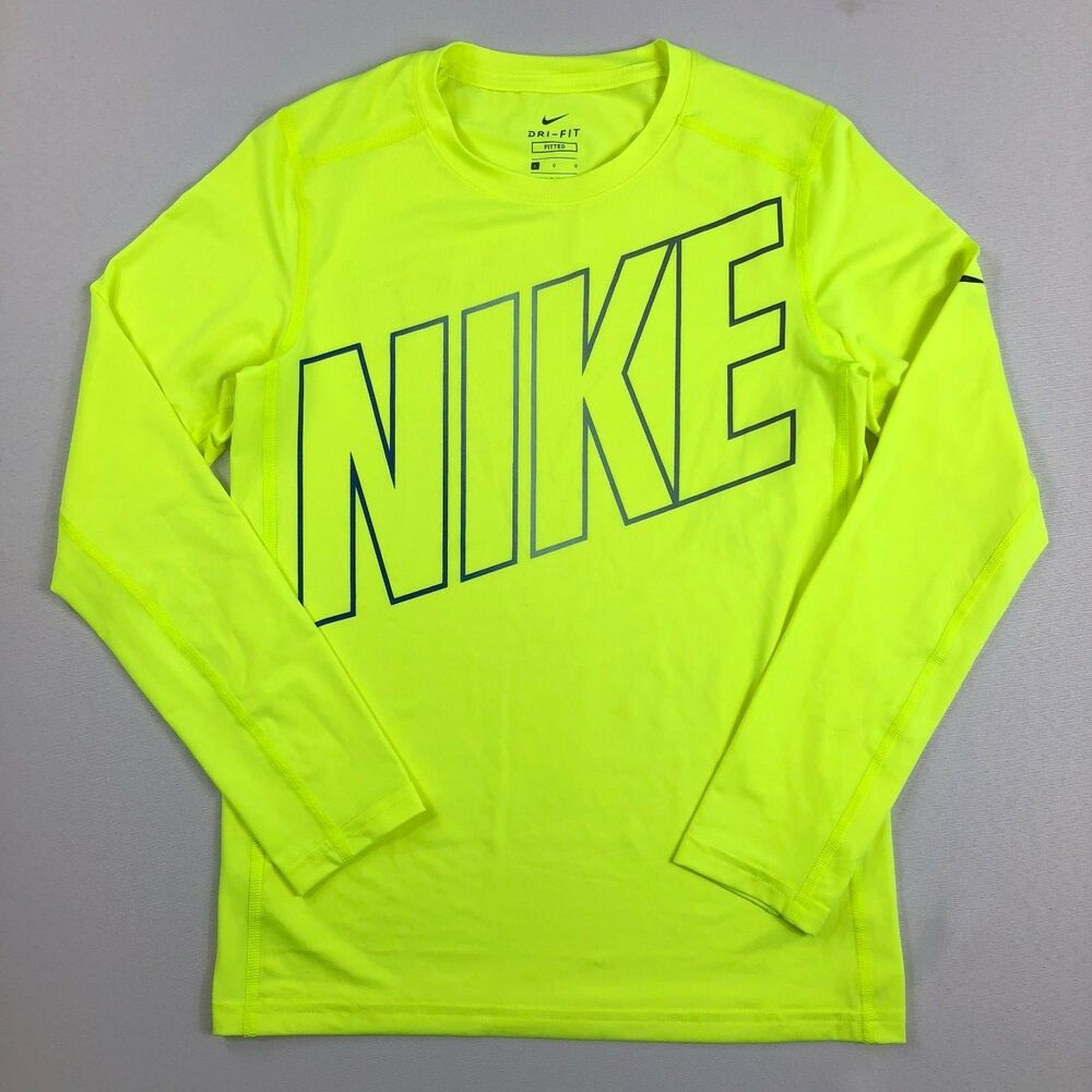 d714b80d Details about Boy's Youth Nike Dri-Fit Fitted Long Sleeve Shirt