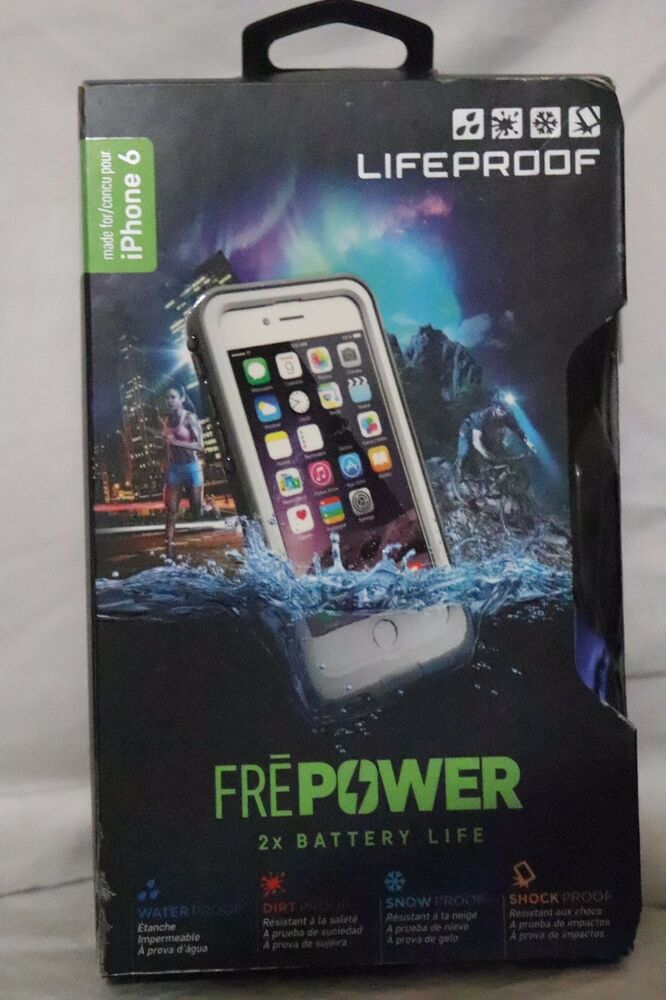 promo code 3ea07 c5e46 BRAND NEW Lifeproof Fre Power Battery Charging Case For iPhone 6s / 6 -  White | eBay