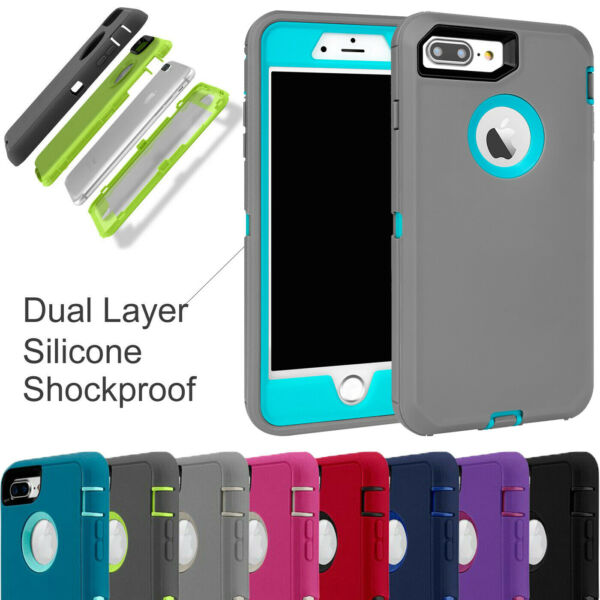 For iPhone 7 8 Plus Case Heavy Duty Protective Armour Builder Defender Cover UK