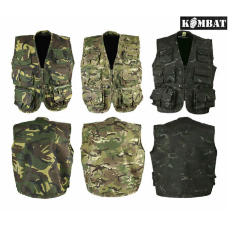 img-Kids Boys Tactical Army Play Soldier Assault Vest Outfit British DPM & BTP Camo