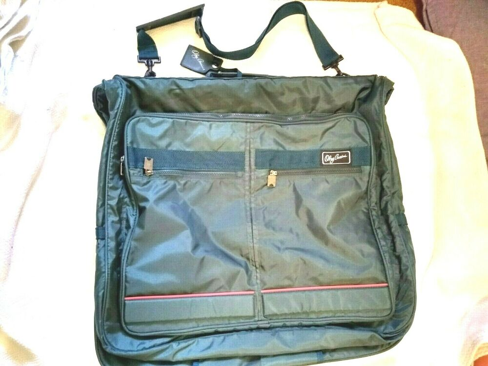 OLEG CASSINI GREEN GARMENT BAG EUC!!! | eBay