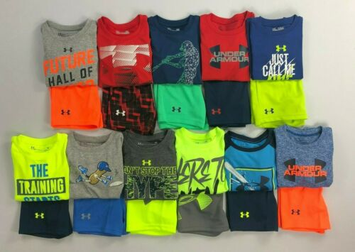 Baby Infant Boy's Under Armour Heat Gear Shirt and Shorts 2 Piece Set Outfit