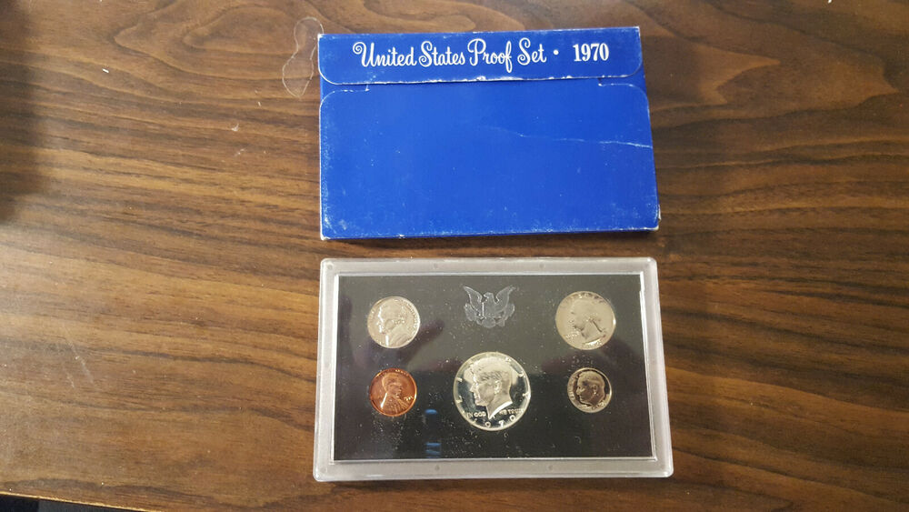 1970 US Coin Proof Set 40/% Silver Kennedy Half Birth Year Rare Free Shipping 001