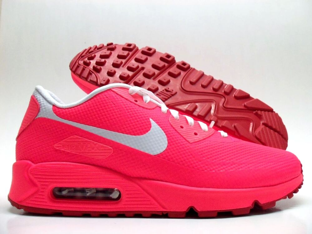 f7ac5e2adc37 Details about NIKE AIR MAX 90 HYPERFUSE PREMIUM ID SOLAR RED WHITE SIZE  MEN S 9.5  822560-997